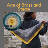 The Age of Brass and Steam Kerchief Yarn Pack, pattern not included, ready to ship