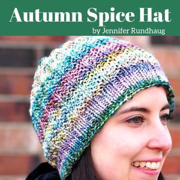 Pattern - Digital Download of Autumn Spice Hat by The Driftless Knitter