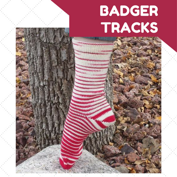 Knitcircus Yarns: Badger Tracks Gradient Striped Matching Socks Set (large), Opulence, ready to ship yarn