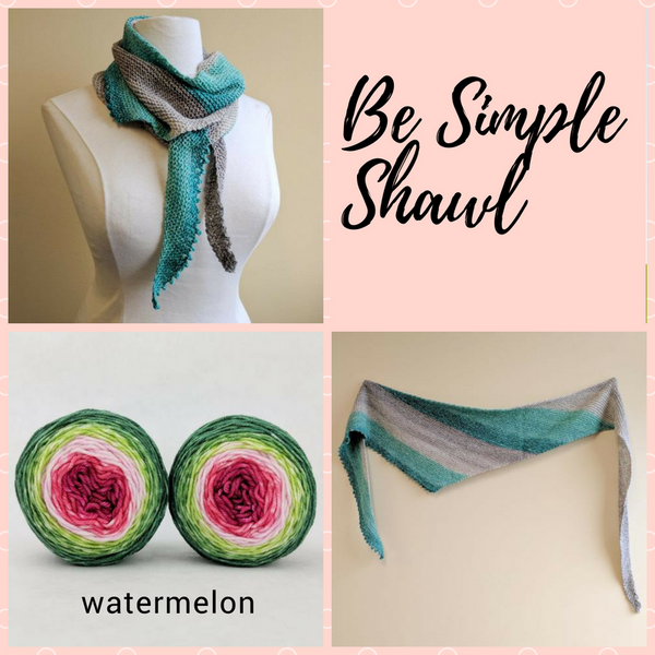 Be Simple Shawl Yarn Pack, pattern not included, dyed to order
