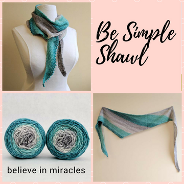 Be Simple Shawl Yarn Pack, pattern not included, ready to ship