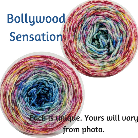 Bollywood Sensation Impressionist Gradient, dyed to order