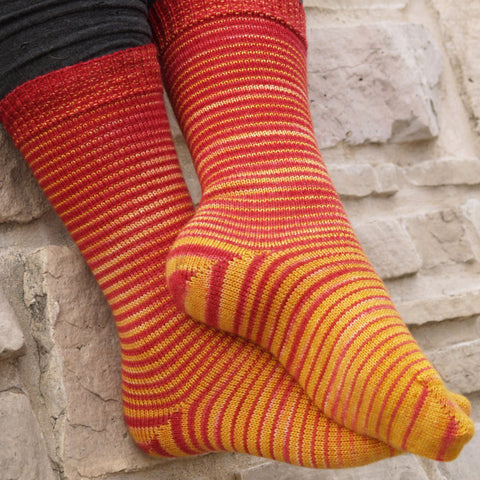 Brave at Heart Gradient Striped Matching Socks Set, dyed to order