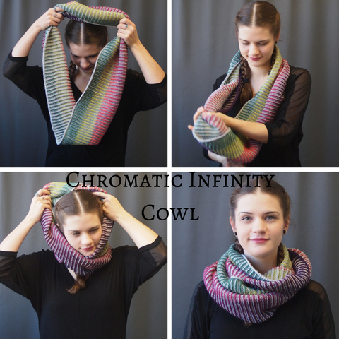 Chromatic Cowl Kit, Infinity size, dyed to order