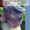 Cornflower Shawl Kit, dyed to order