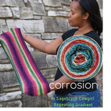 Corrosion Cowl Yarn Pack, pattern not included, ready to ship