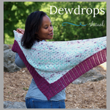 Dewdrops Shawl Kit, dyed to order