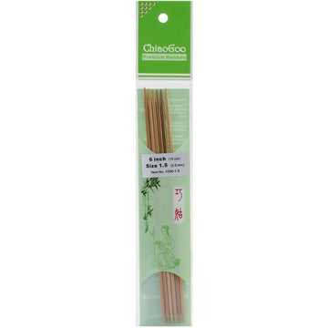ChiaoGoo Bamboo Double Pointed Needles, ready to ship