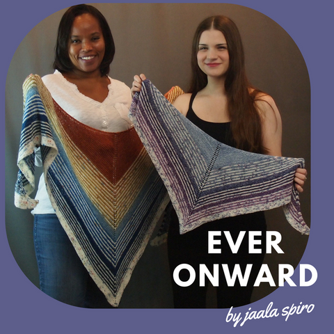 Ever Onward Shawl Kit, ready to ship