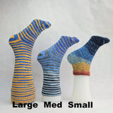 Feliz Navidad Gradient Striped Matching Socks Set, dyed to order