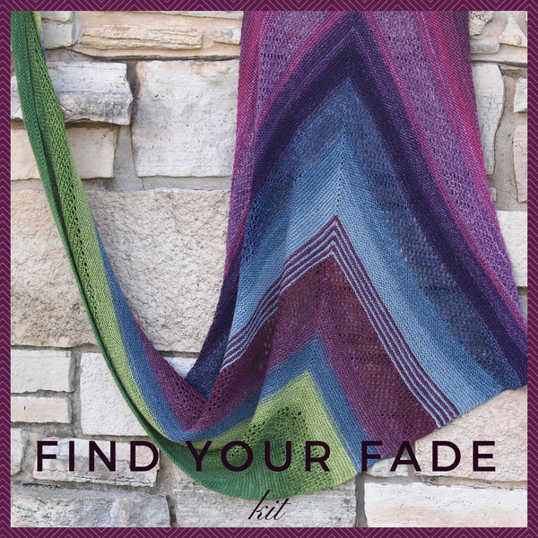 Find Your Fade Shawl Kit, ready to ship