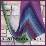Find Your Fade Shawl Kit, dyed to order