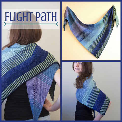 Flight Path Shawl Kit, small, ready to ship