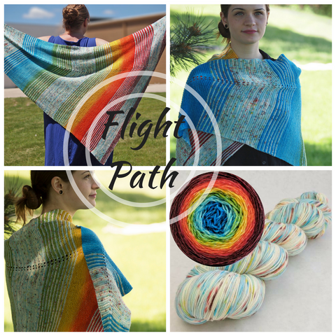 Flight Path Shawl Kit, large, ready to ship