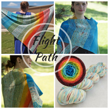 Flight Path Shawl Kit, large, dyed to order