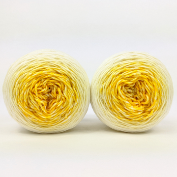 Knitcircus Yarns: Sunny Side Up Chromatic Gradient Matching Socks Set (medium), Greatest of Ease, ready to ship yarn
