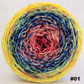 Knitcircus Yarns: Pippi Longstocking 150g Impressionist Gradient, Greatest of Ease, choose your cake, ready to ship yarn