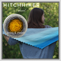 Hitchhiker Shawl Yarn Pack, pattern not included, dyed to order