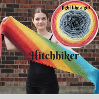 Hitchhiker Shawl Yarn Pack, pattern not included, ready to ship