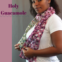 Holy Guacamole Crochet Scarf Yarn Pack, pattern not included, dyed to order
