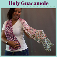 Holy Guacamole Crochet Scarf Yarn Pack, pattern not included, ready to ship