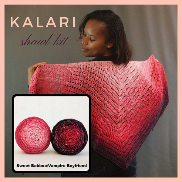 Kalari Shawl Kit, dyed to order