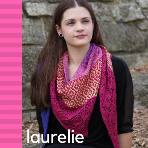 Laurelie Shawl Yarn Pack, ready to ship