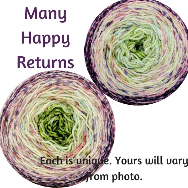 Knitcircus Yarns: Many Happy Returns Impressionist Gradient, dyed to order yarn