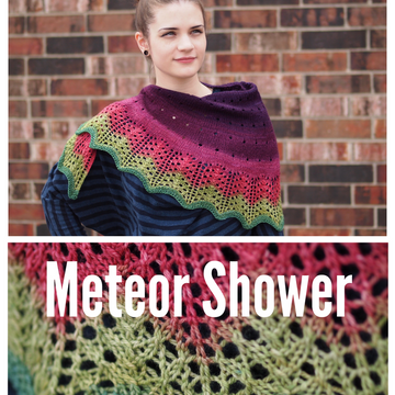 Pattern - Meteor Shower, by Jaala Spiro, ready to ship
