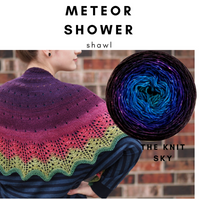Meteor Shower Shawl Yarn Pack, pattern not included, dyed to order