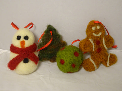 Class: Needle Felting Holiday Ornaments with Michelle at our store on Saturday, December 14th 2019 from 10:00-12:00pm