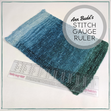 Ann Budd Knits Stitch Gauge Ruler, ready to ship, Best Seller!