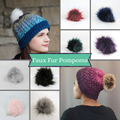 Faux Fur Pompom, assorted colors, ready to ship