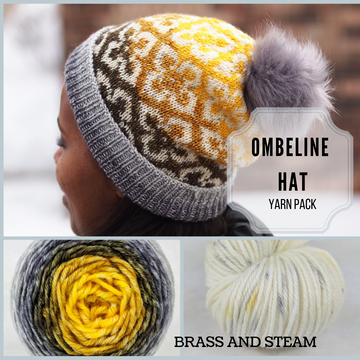 Ombeline Hat Yarn Pack, pattern not included, ready to ship