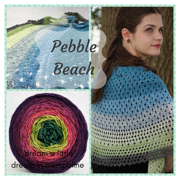 Pebble Beach Shawl Yarn Pack, pattern not included, dyed to order