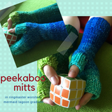 Peekaboo Mitts Yarn Pack, pattern not included, ready to ship