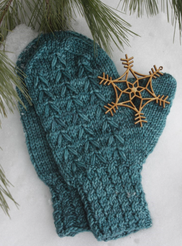 Pattern - Digital Download of Pinewood Mittens by Chit Chat Knits