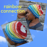 Rainbow Connection Hat Kit, dyed to order