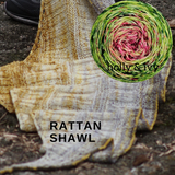 Rattan Shawl Yarn Pack, pattern not included, dyed to order