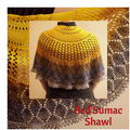 Pattern - Red Sumac Shawl, by Jaala Spiro, ready to ship