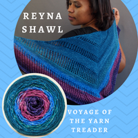 Reyna Shawl Yarn Pack, pattern not included, dyed to order