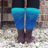 Robin's Nest Panoramic Gradient Matching Socks Set (large), Greatest of Ease, ready to ship