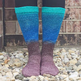 Robin's Nest Panoramic Gradient Matching Socks Set (medium), Greatest of Ease, ready to ship - SALE