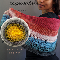 Rosewater Shawl Kit, ready to ship