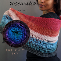 Rosewater Shawl Kit, dyed to order