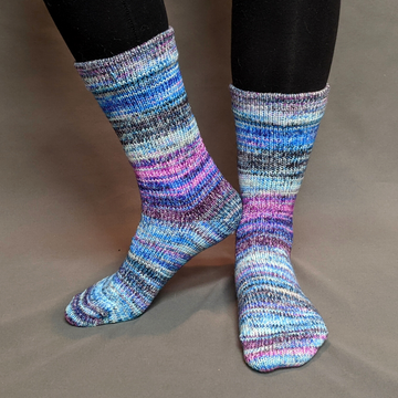 Knitcircus Yarns: Night of a Thousand Stars Modernist Matching Socks Set (medium), Greatest of Ease, choose your cakes, ready to ship yarn