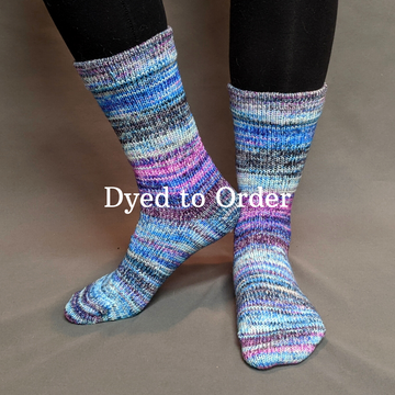 Knitcircus Yarns: Night of a Thousand Stars Modernist Matching Socks Set, dyed to order yarn