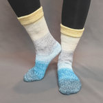 Knitcircus Yarns: Sea of Tranquility Panoramic Gradient Matching Socks Set (medium), Greatest of Ease, ready to ship yarn