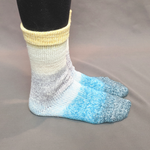 Knitcircus Yarns: Sea of Tranquility Panoramic Gradient Matching Socks Set, dyed to order yarn