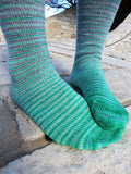 Cunning Folk Gradient Striped Matching Socks Set, dyed to order